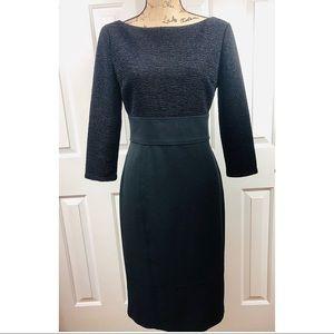 London Times Black Long Sleeved Dress EUC